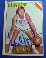 JACK MARIN auto signed autograph 1975-76 Topps Buffalo Braves