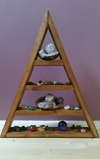 Wooden Triangle Shelf - Shelving for displaying of ornaments and crystals
