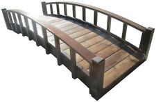 8 Ft Japanese Garden Bridge w/Arched Railings ~ Treated Wood ~ 350 lb Capacity