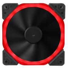 Halo Dual Ring 22 LED 120mm 12cm Red Case PC Fan, 22 x LED's, 22.0dB, 32 CFM