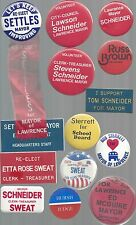 VINTAGE LAWRENCE INDIANA LOCAL POLITICAL BUTTON GROUP - MANY DIFFERENT