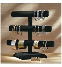 Black Velvet Triple Tier Jewelry Bracelet Holder