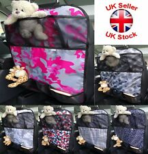 6 POCKET Car Back Seat Organizer Storage Bag Protector Boys & Girls