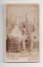 Vintage CDV Unknown Young Family F. Beales Photo Boston Mass.