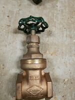 "Jenkins Gate Valve  1 -1/2""  Female Iron Pipe Size Threaded Non-Rising Stem. 125"