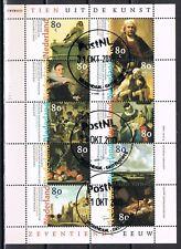Nederland 1999 vel 1826-1835 Schilderkunst, stempel laatste dag van geldigheid!