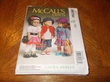 "McCalls Crafts Pattern M6764 ~18"" Doll Clothes~ Modern Fashions by Laura Ashley"