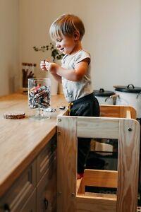 Montessori Lernturm für Kinder Lernstuhl Hochstuhl Tritthocker  Learning Tower