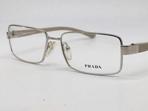 PRADA True Vintage Vpr 2062.7oz Silvery Super Classic Design Logo 52-15 Medium