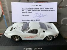 SCALEXTRIC UK FORD GT40 Plain White DEZE HARLEKINJN 19 DE 40 UNIDADES