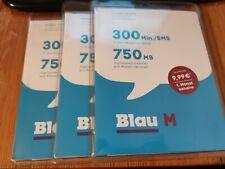 3 x blau M Prepaid Startpaket SIM Karte o2 * Beschreibung!