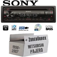 Sony Autoradio Per Mitsubishi Pajero fino A 2007 CD/MP3/USB Acc. Montaggio Set