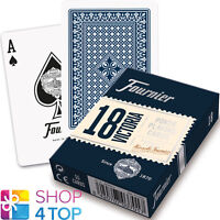 FOURNIER 18 VICTORIA PLASTIC COATED POKER PLAYING CARDS DECK BLUE STANDARD NEW