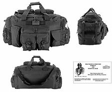 ONE-The Tank Duffel Bag / Bug Out Bag Tactical / Military / Survival Gear -Black