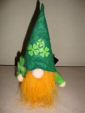 "St. Patrick's Day decor leprechaun gnome with shamrock 10"""