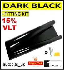 CAR WINDOW TINT FILM TINTING DARK BLACK  SMOKE 15% 76cm x 6M NEW