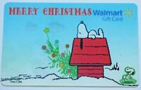 Walmart Gift Card - Lenticular Snoopy Peanuts Christmas - No Value - I Combine