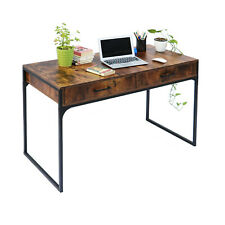Computer Desk Pc Laptop Table Study Workstation Wood Home Office w/Drawers