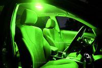 Bright Green LED Interior Light Kit + LED NO Plate Light for Nissan D22 Navara