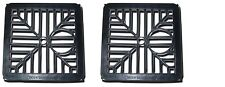 """PACK OF 2 X BLACK SQUARE DRAIN COVER 6"""" GULLEY GRID"""