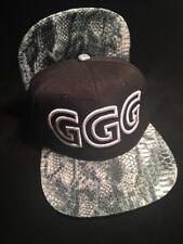 GGG Hat Snapback Cap Gennady Golovkin God Of War Puff stitch snakeskin