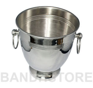 CHAMPAGNE WINE BUCKET NICKEL PLATED METAL PARTY BAR COOLER ICE BUCKET