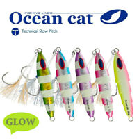 Saltwater Slow Fall Pitch Fishing Lure Flat Sinking Lead Metal Flat Jigging Bait