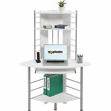 Compact hoekbureau met Planken en Keyboardhouder - Piranha OSCAR PC 8s