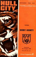 Hull City v Derby County programme, Division 2, October 1968