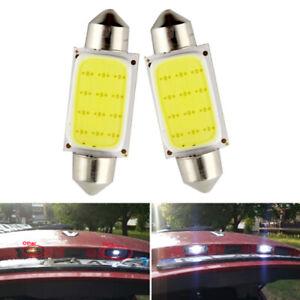 2pcs COB 39mm White Festoon Interior Dome LED Reading Light Car Xenon Lamp Bulbs