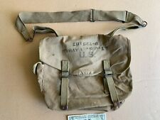 NICE VTG LUCE 1942 WWII US ARMY OFFICERS MUSETT CANVAS FIELD BAG milItary