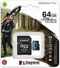 Kingston SDCG3 64GB Micro SD C10 U3 UHS-I A2 SPEICHERKARTE 170MB/s