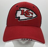 Kansas City Chiefs Red Whte Color Block Embroidered Adjustable Hat NFL Reebok