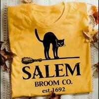 Black Cat Salem Broom Co Est 1692 Tshirt Women Daisy M - 3XL