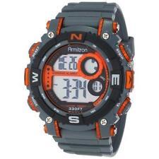 Armitron Men's Dark Grey Resin Watch, 100 Meter WR, Chronograph, 40/8284ORG