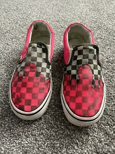 Vans. Pink And Black Chequered Mens US 7