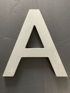 """Letter A Vintage Industrial Salvage Sign Cast Aluminum Metal 12"""" Outdoor"""