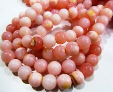 Natural Peruvian Pink Opal Round Ball Shape Beads 8 to 9mm, Strand 13 inch long.