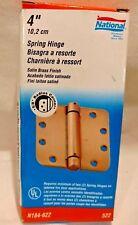 """4"""" door spring hinge satin brass 5/8"""" radius corner National Hardware"""
