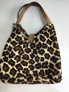 Cavalcanti Animal Print Pony Skin Bag Leather Large Tote