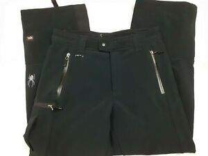 Spyder XTL Spylon Black Winter Snow Snowboard Spandex Pants Thinsulate Medium