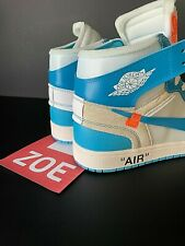 NIKE AIR JORDAN 1 X OFF WHITE - UNIVERSITY BLUE  -