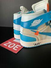 NIKE AIR JORDAN 1 X OFF WHITE - UNIVERSITY BLUE  -
