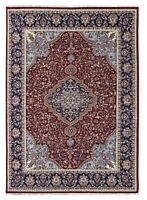 Traditional Hand Knotted Wool Area Rug 8x10 ft 'Vibhar' Indian Handmade Carpet