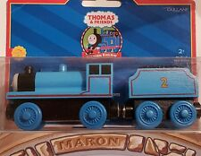 THOMAS & FRIENDS WOODEN RAILWAY ~ EDWARD ~  RARE 2001 NO LINES EDITION W/ CARD!