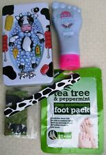 Cow in Bath Gift Tin - foot care gift - foot lotion, foot pack, emery board