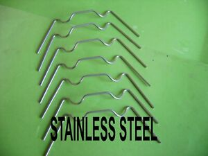 GREENHOUSE STAINLESS STEEL GLAZING GLASS CLIPS W  CLIPS CHOOSE FROM 20 TO 500