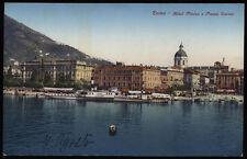 cartolina COMO hotel plinius e piazza cavour