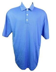 Nike Golf Dri Fit Polo Shirt Men Size XL Short Sleeve Blue Collared Polyester
