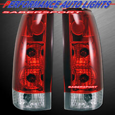 Set of Red Clear G5 Taillights for 88-99 GM C/K 1500 2500 3500 Yukon Suburban